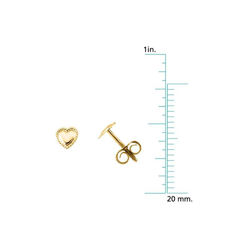 Children's Jewelry Children's Heart Earrings