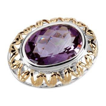 Genuine Checkerboard Amethyst Ring