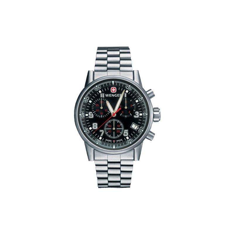 Eisen Watches Wenger Mens Black Commando Chrono Watch