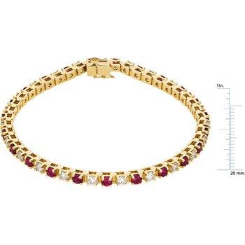 Genuine Ruby & Diamond Bracelet