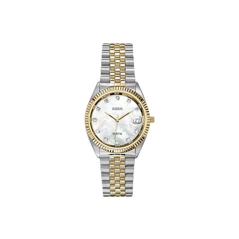 Eisen Watches Eisen Gent's Stainless Steel and Gold Tone Quartz Wrist Watch