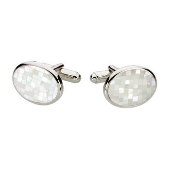 Men's Genuine Mother of Pearl Cuff Links
