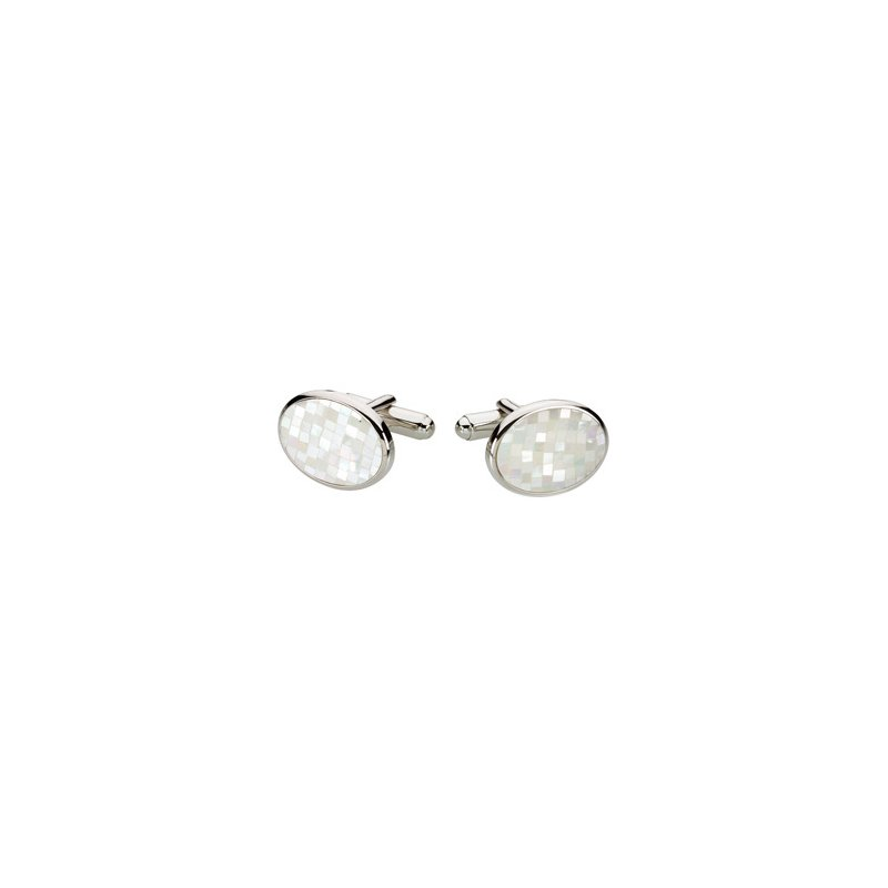 Men's Jewelry Men's Genuine Mother of Pearl Cuff Links