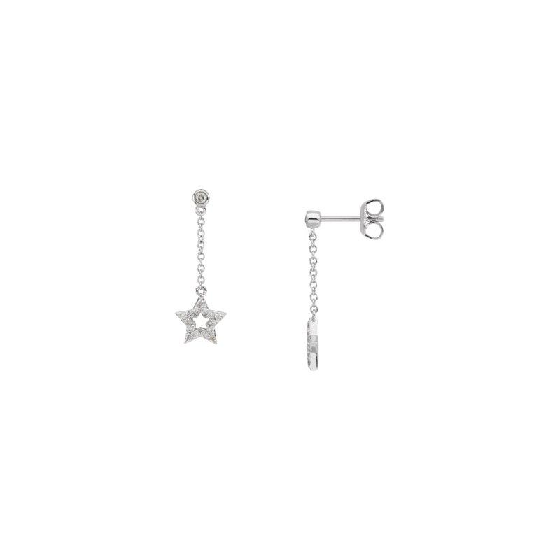 Ladies' Jewelry Diamond Star Earrings