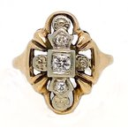 Estate & Vintage Lady's vintage two-tone and diamond ring