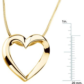 Heart Pendant On A Snake Chain