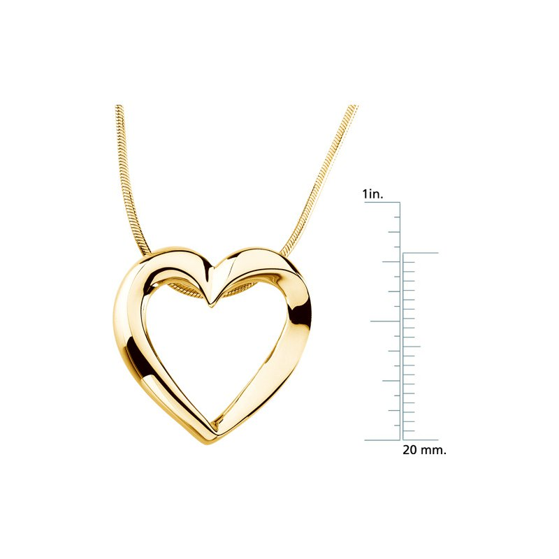 Ladies' Jewelry Heart Pendant On A Snake Chain