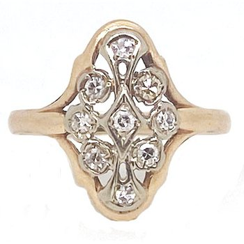 Vintage Diamond and Two-tone Gold Ring