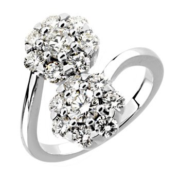 2 ct tw Diamond Cluster Ring