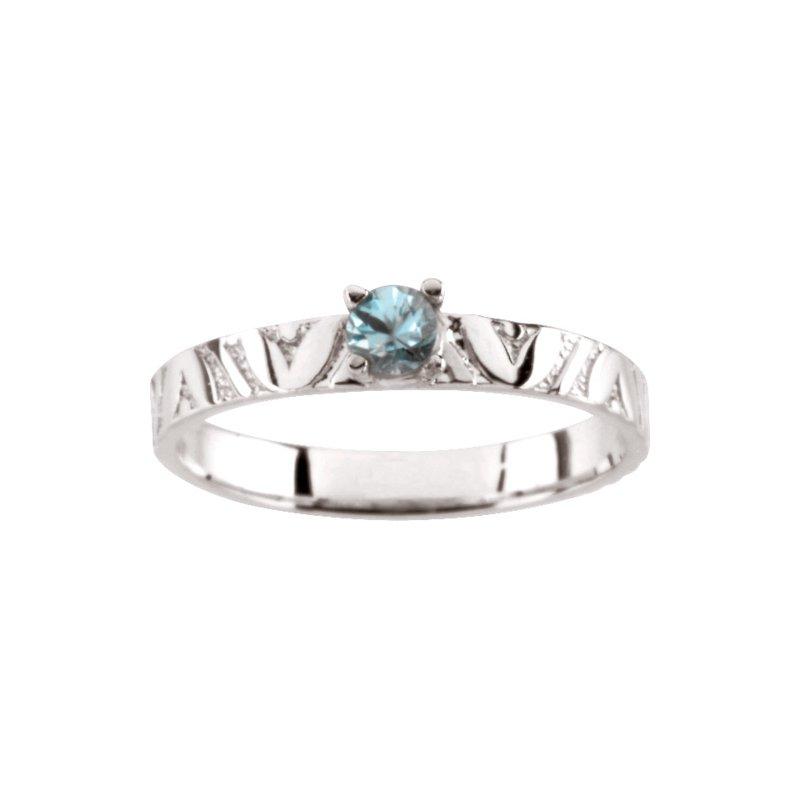 Birthstone Jewelry Children's Genuine Blue Zircon December Birthstone Ring