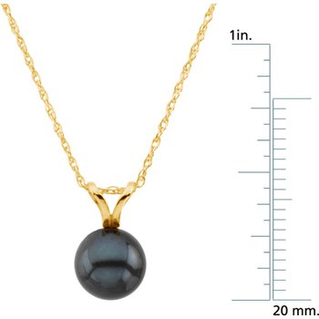 Akoya Black Cultured Pearl Necklace
