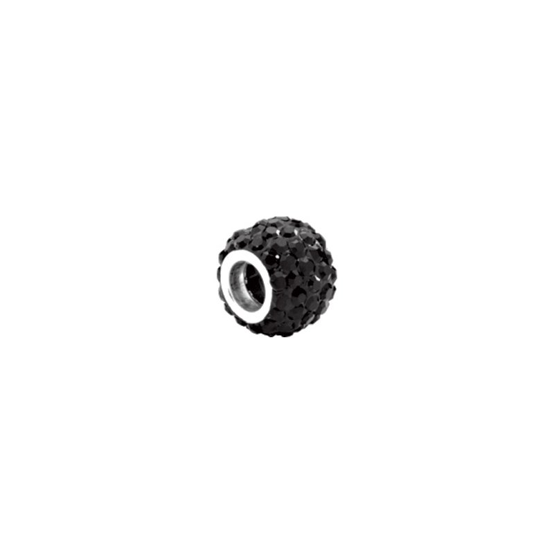 Holiday Ideas Kera Roundel Bead with Pave' Jet Crystals