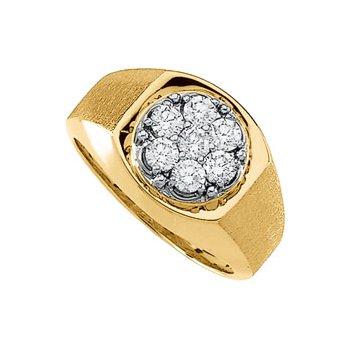 1 ct tw Gents Diamond Cluster Ring