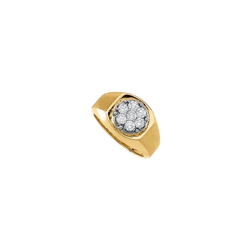 Holiday Ideas 1 ct tw Gents Diamond Cluster Ring
