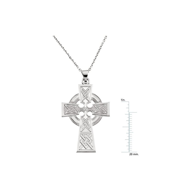 Religious Jewelry Celtic Cross Pendant Large