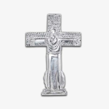 Mount Christo Rey Cross Sterling Silver Pendant