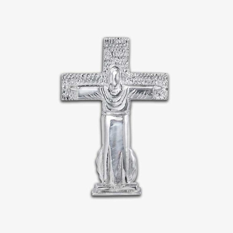 El Paso Star and Gifts Mount Christo Rey Cross Sterling Silver Pendant