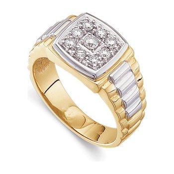3/8 ct tw Gents Two-Tone Diamond Ring