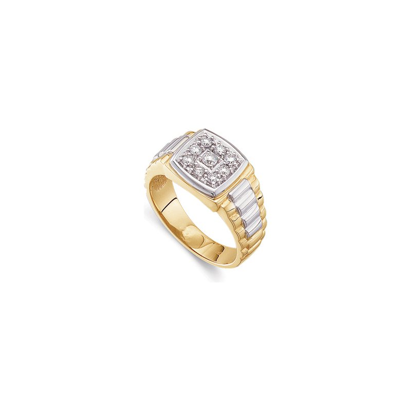 Holiday Ideas 3/8 ct tw Gents Two-Tone Diamond Ring