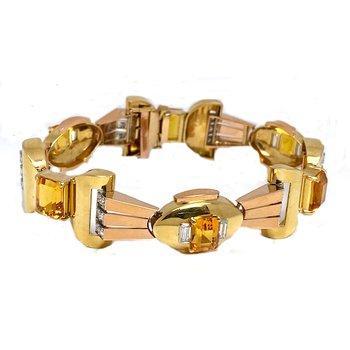 Vintage 18K Deco Style Bracelet