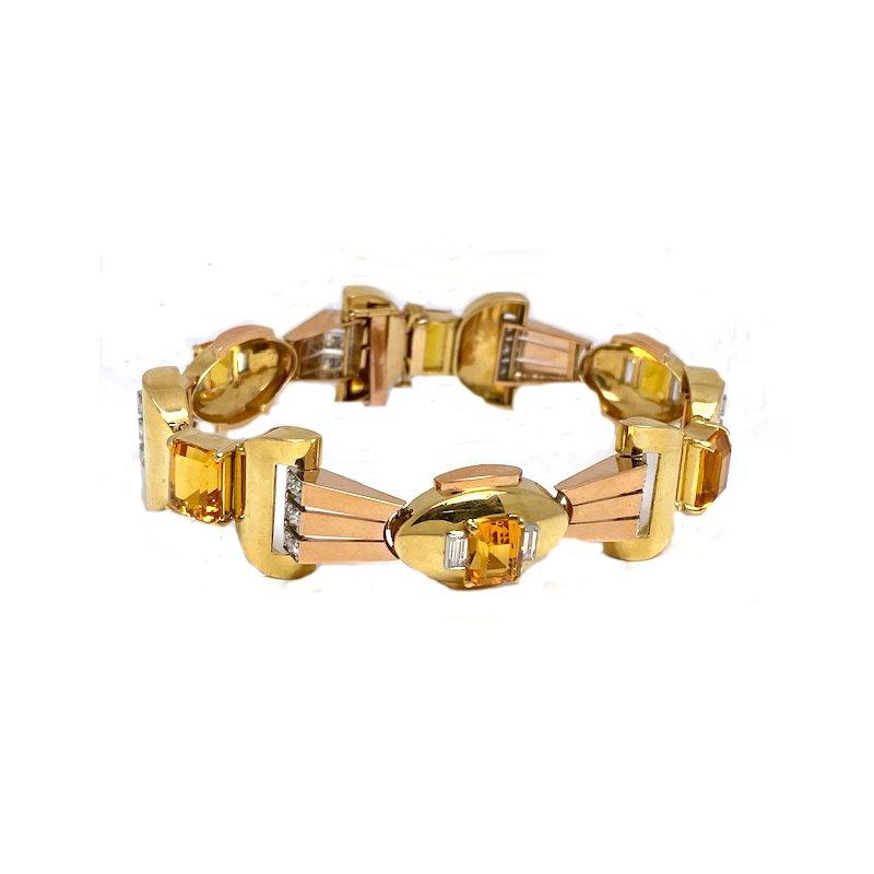 Estate & Vintage Vintage 18K Deco Style Bracelet