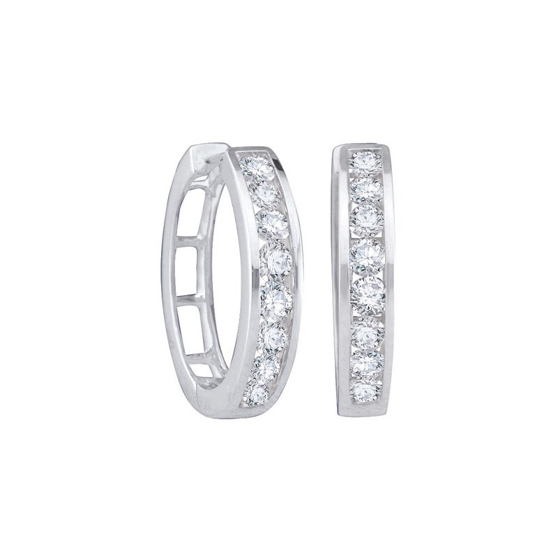 Mother's Day Ideas Diamond Fashion Hoops
