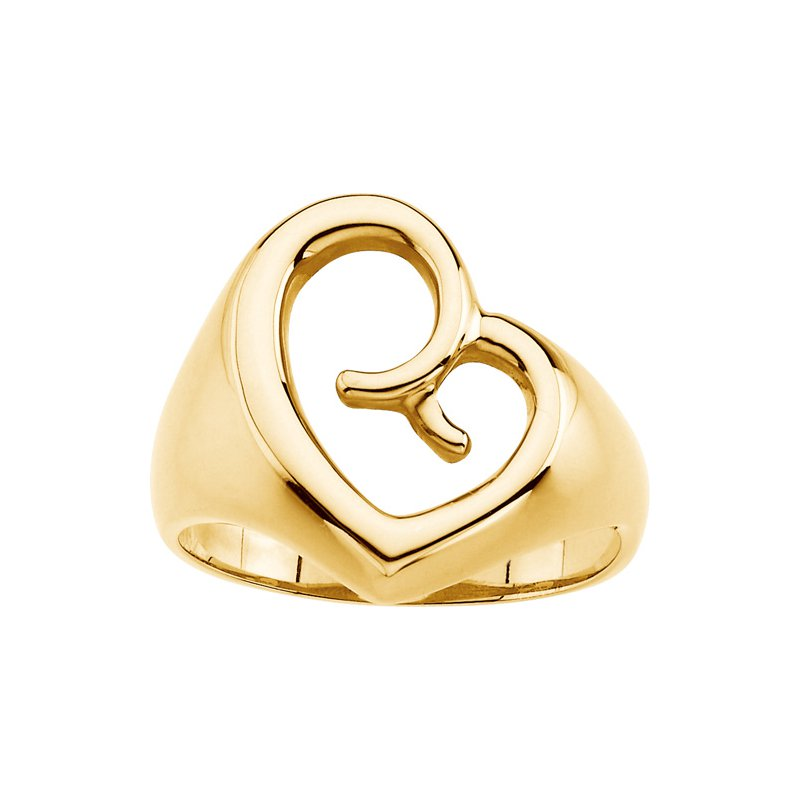 Ladies' Jewelry Mother's Love Heart Ring