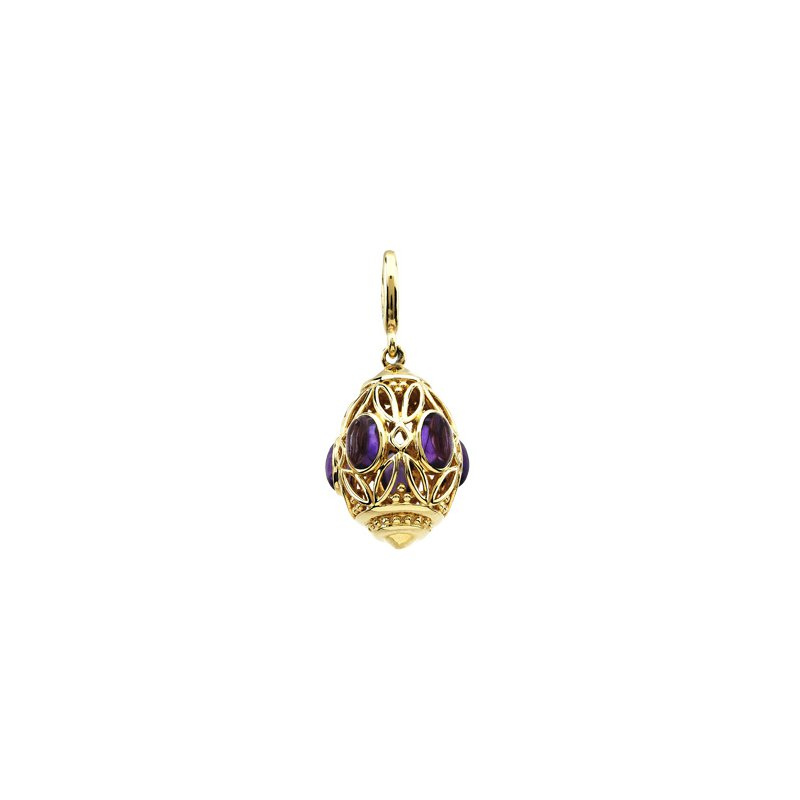 Ladies' Jewelry Genuine Amethyst Charm