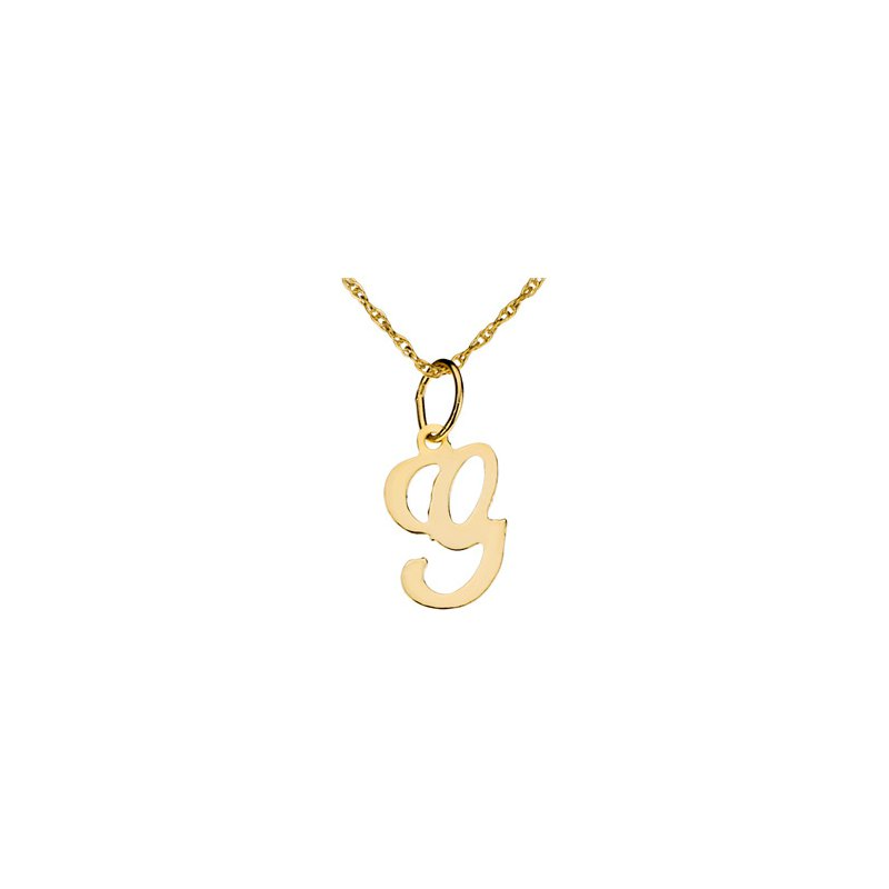 """Ladies' Jewelry Initial """"G"""" Necklace"""