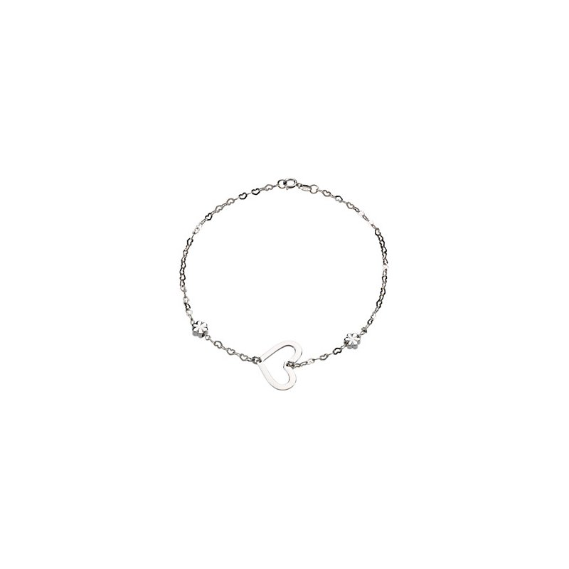 Ladies' Jewelry Heart and Flowers Anklet