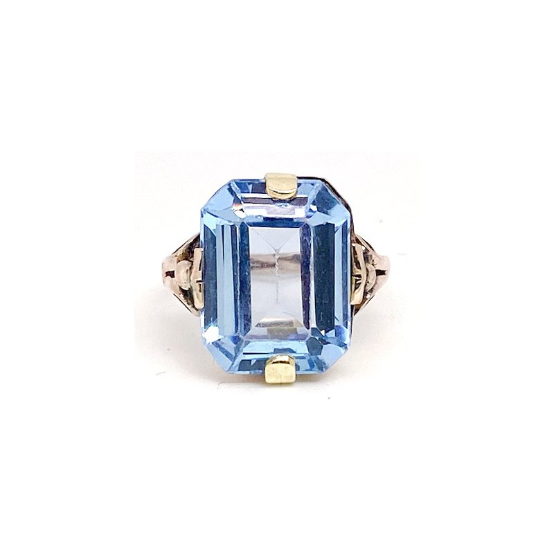 Estate & Vintage Lady's vintage synthetic spinel and yellow gold ring