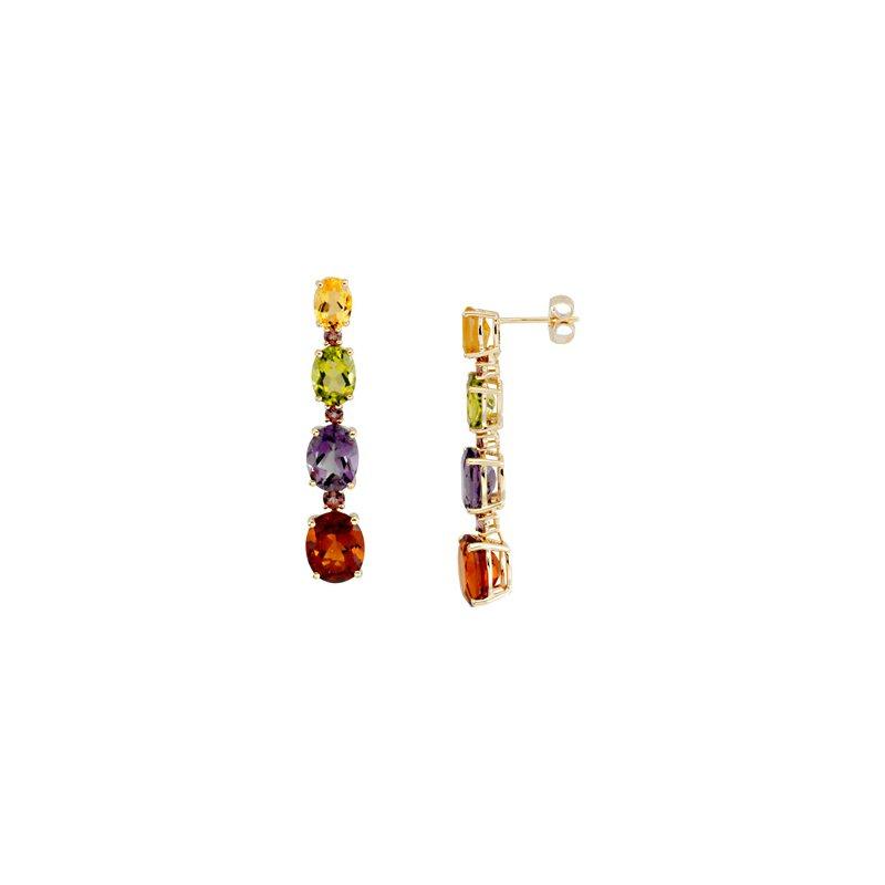 Holiday Ideas Multicolor Gemstone Earrings