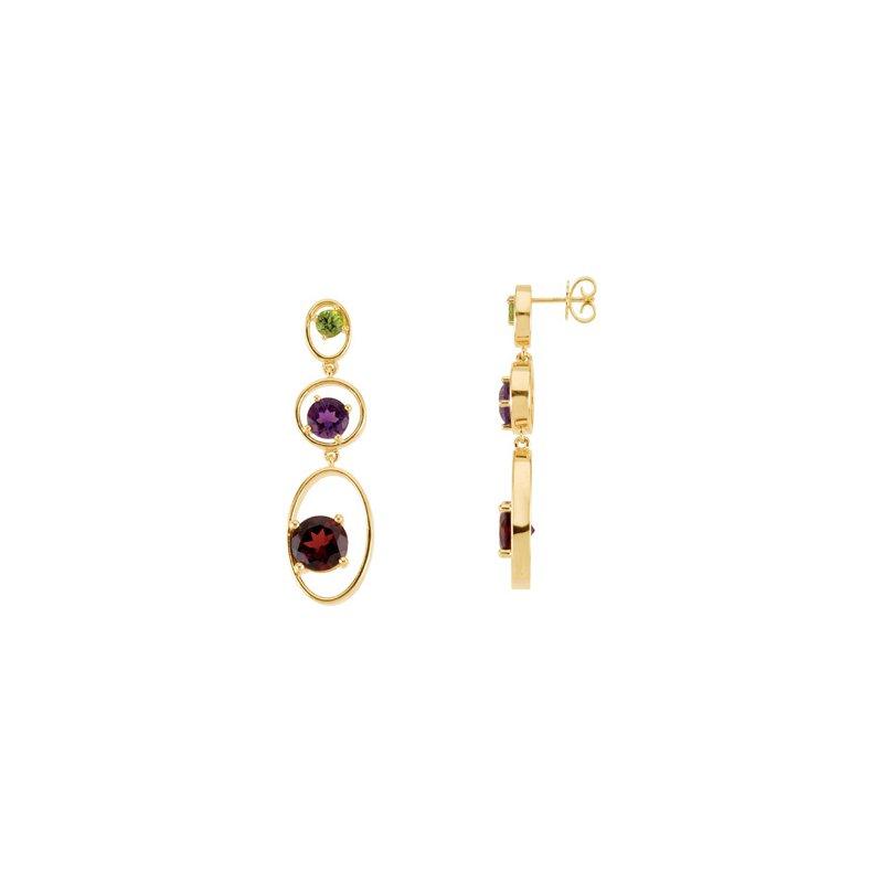 Holiday Ideas Multi-Gemstone Earrings
