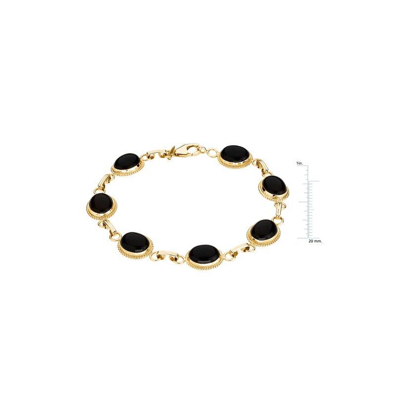 Ladies' Jewelry Genuine Cabochon Onyx Bracelet