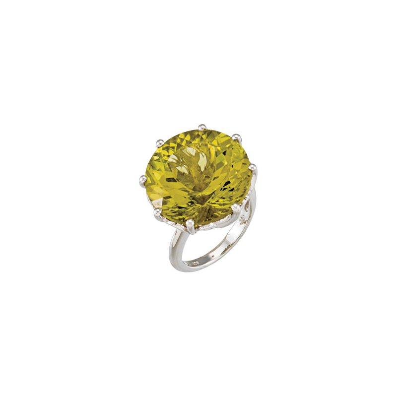 Holiday Ideas Genuine Green Gold Quartz Ring