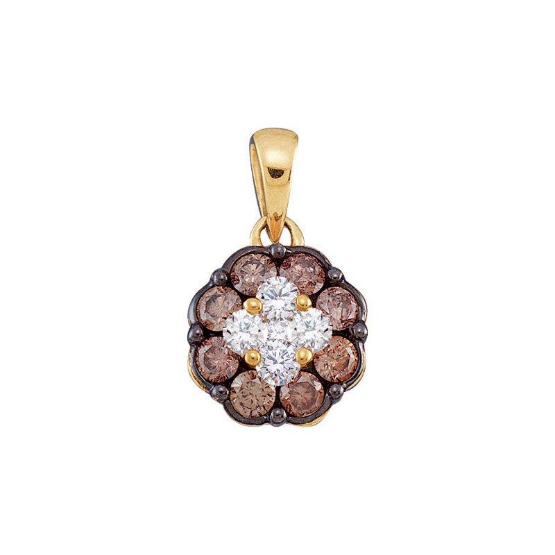Valentine Gift Ideas Diamond Flower Pendant