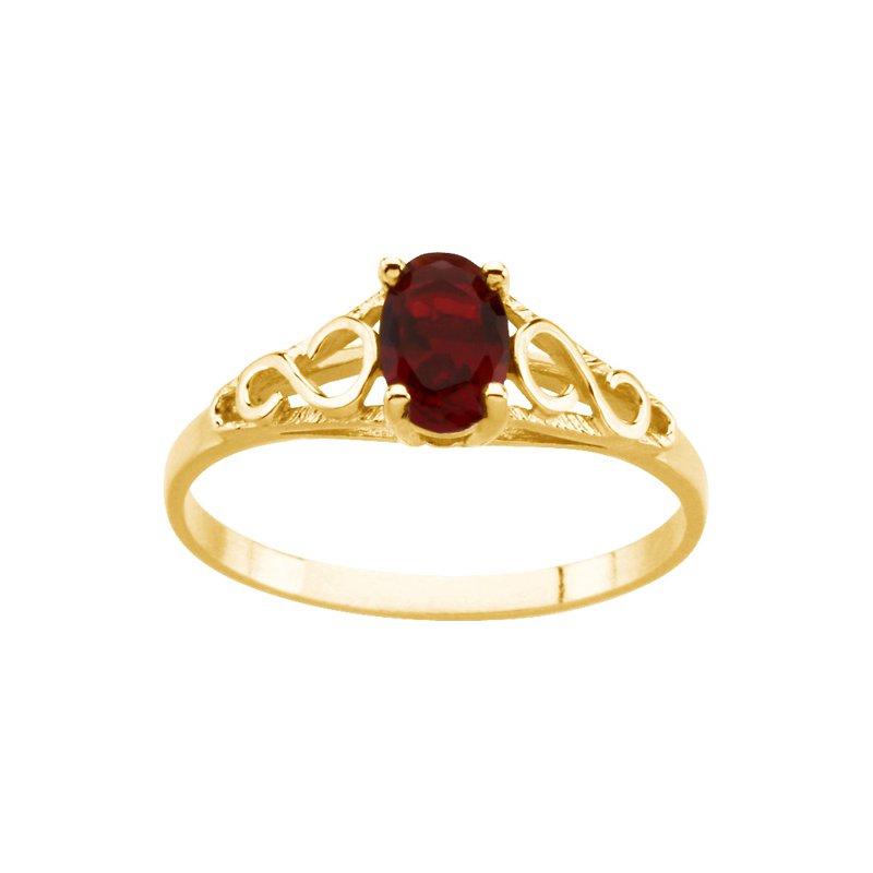 Birthstone Jewelry Teen Imitation January Birthstone Ring