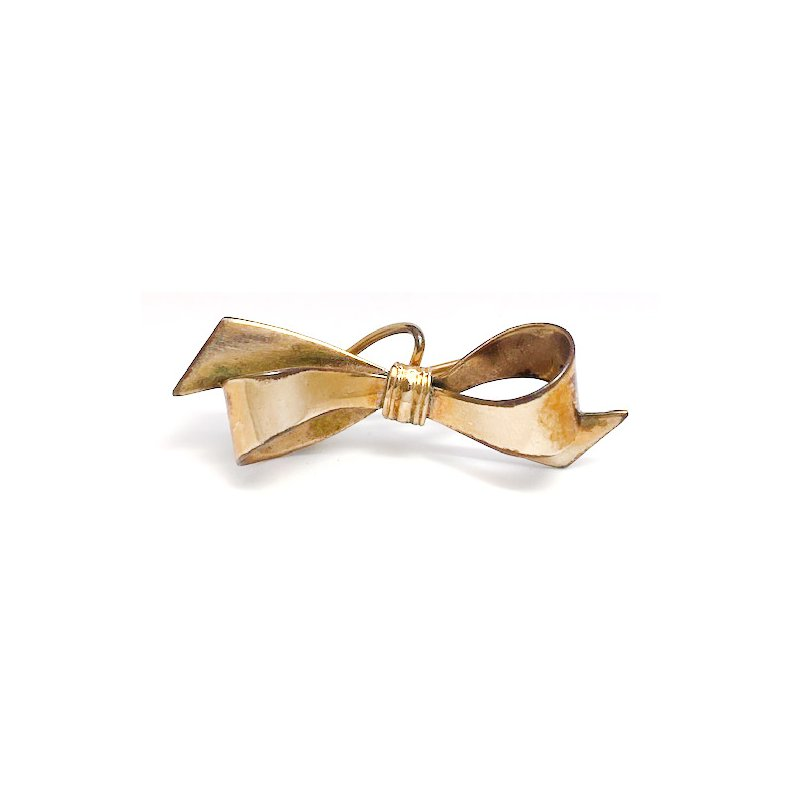 Estate & Vintage Lady's vintage yellow gold bow brooch