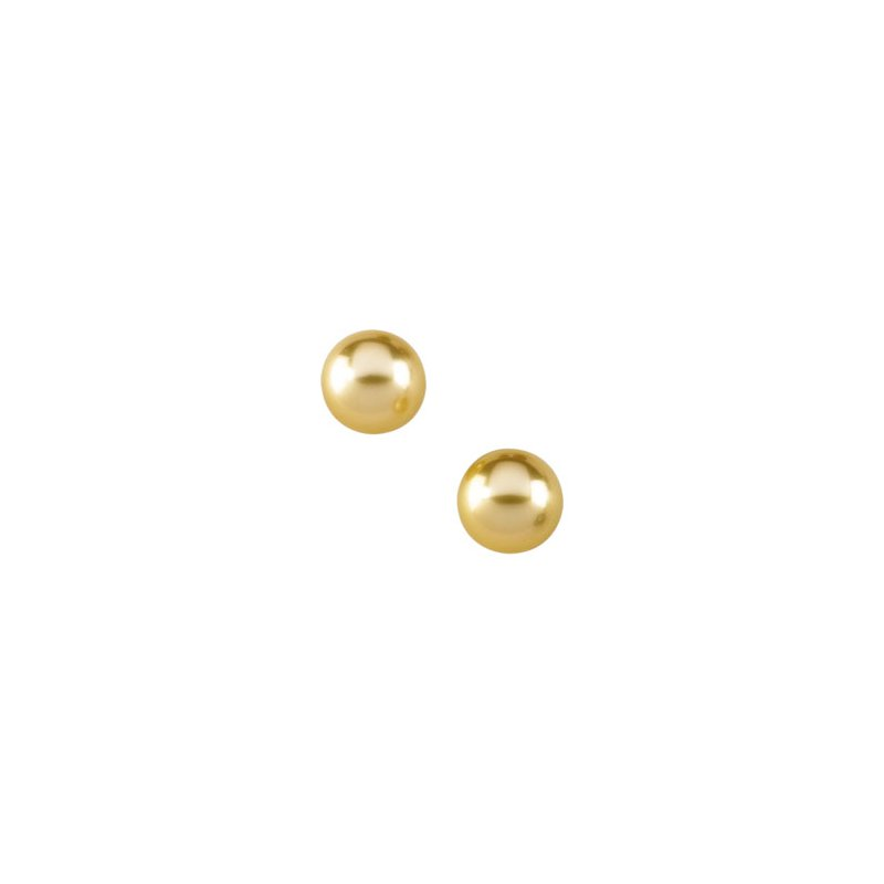 Ladies' Jewelry Golden South Sea Cultured Pearl Earrings