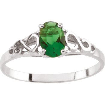 Teen Imitation May Birthstone Ring