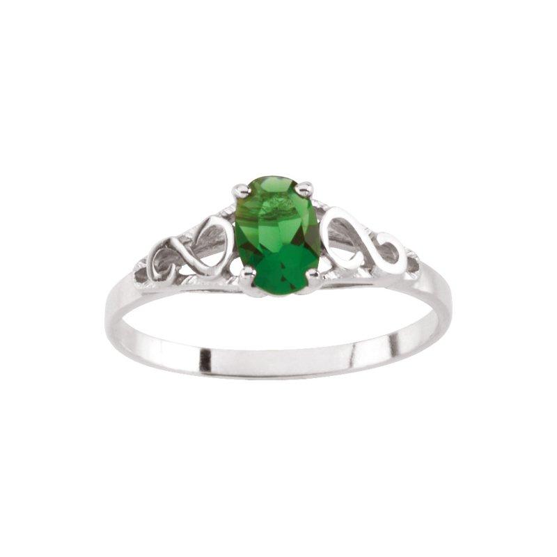 Birthstone Jewelry Teen Imitation May Birthstone Ring