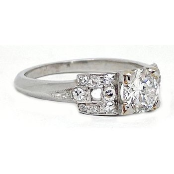 Platinum and Diamond, Art Deco Style Ring