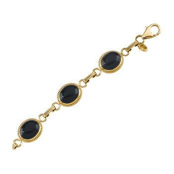 Genuine Onyx Cabochon Bracelet