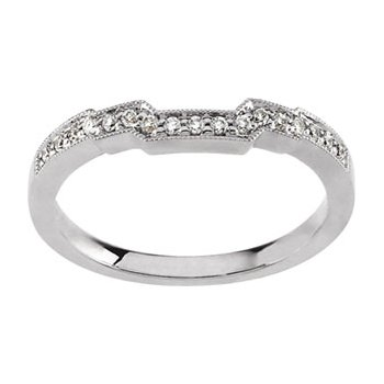 1/8 ct tw Diamond Wedding Band