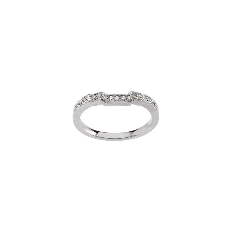 Susan Eisen 1/8 ct tw Diamond Wedding Band