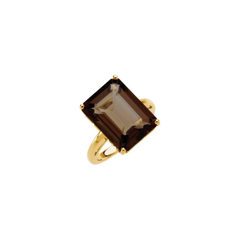 Ladies' Jewelry Genuine Smoky Quartz Ring