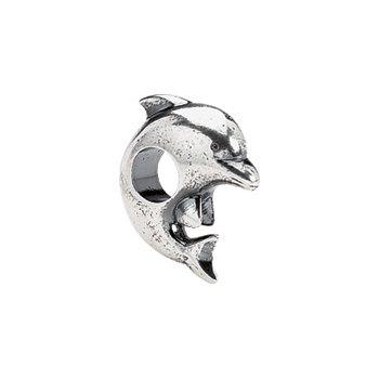 Kera Sterling Silver Dolphin Bead