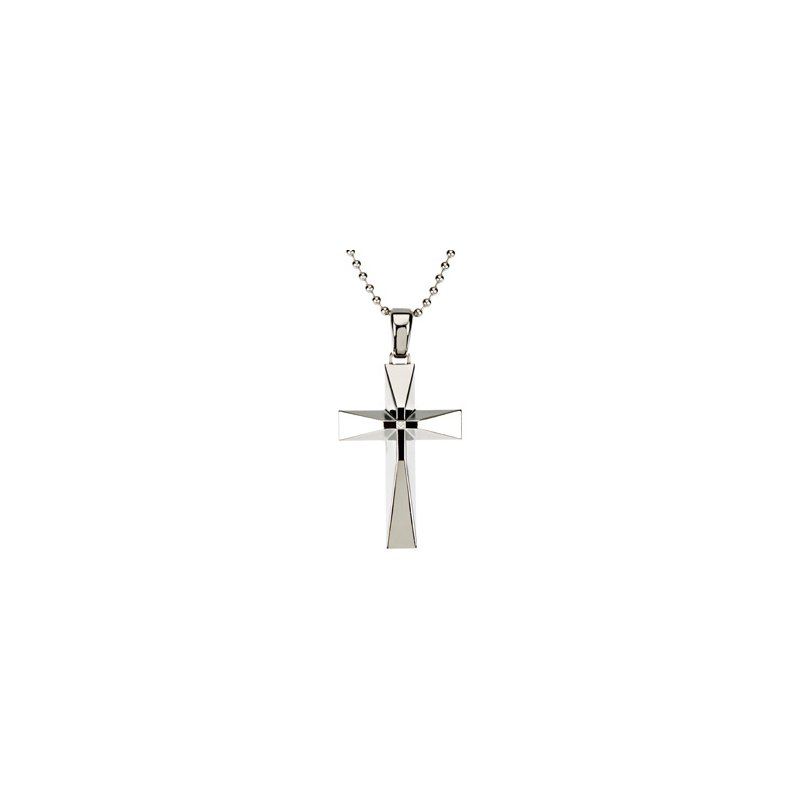 Holiday Ideas Diamond Cross with 30 inch Bead Chain