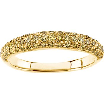 Yellow Diamond Band Ring