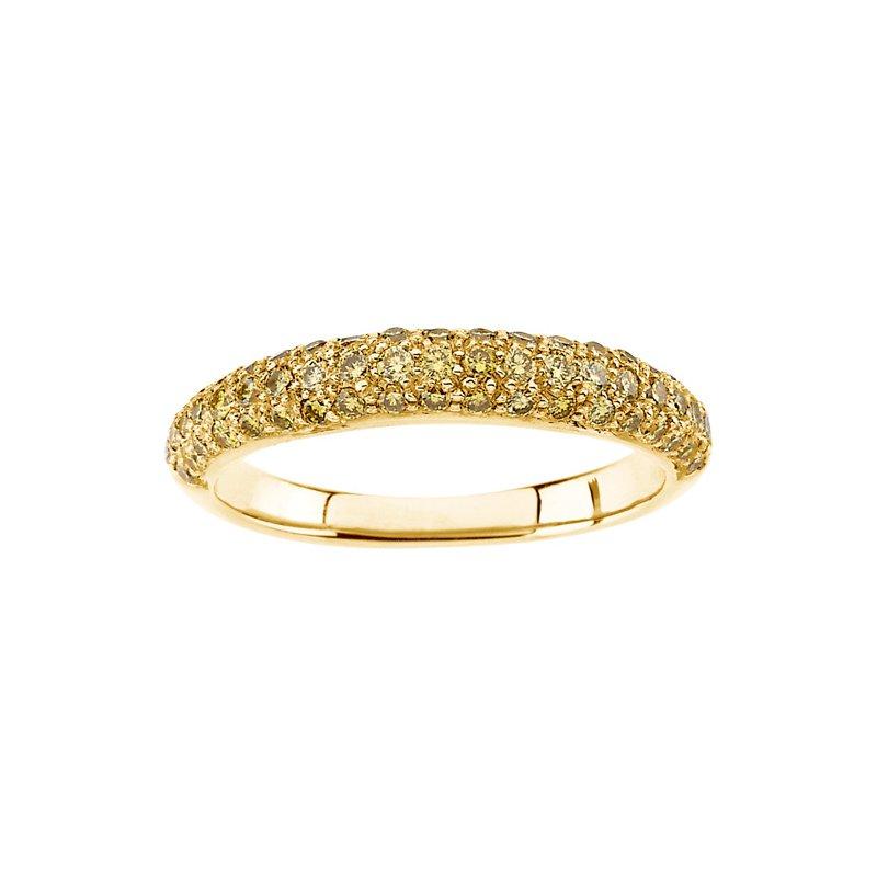 Susan Eisen Yellow Diamond Band Ring